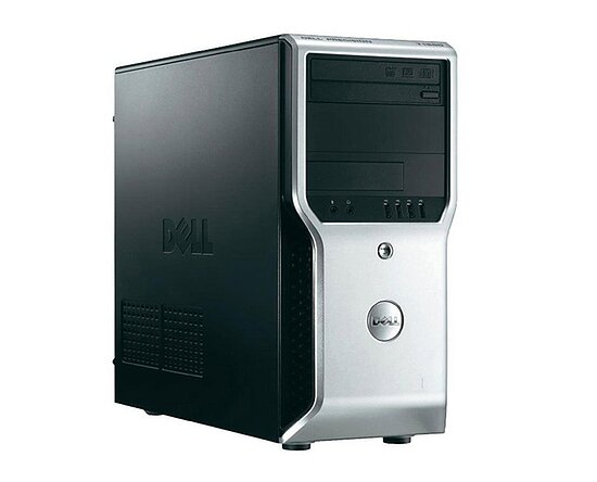 Bild 1 - Dell, Precision T1600, Tower, Xeon E3 1225, 3,1GHz, 8GB, 256GB SSD, DVD, Quadro 2000