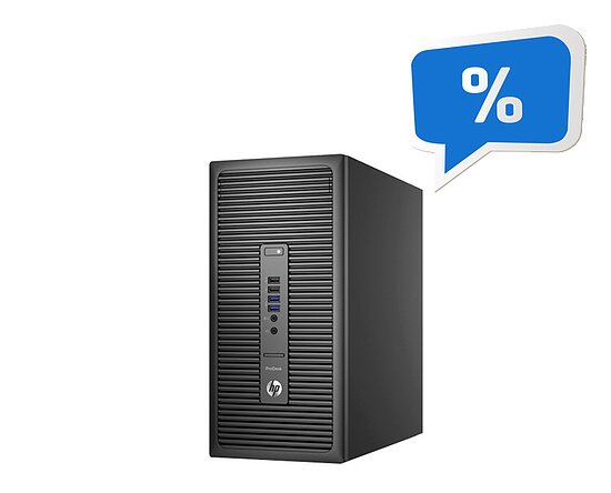 Bild 1 - HP, ProDesk 600 G2 MT, Tower, Core i5 6500T, 2,5GHz, 8GB, 256GB SSD, NoCD