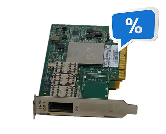 Bild 1 - Qlogic QLE7340 SinglePort 40Gbps InfiniBand PCI-E Adapter (Low Profile) IB6413601-04C