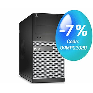 Dell, OptiPlex 3020 MT, Tower, Core i5 4590, 3,3GHz, 4GB, 500GB, DVD-RW, Kat-B